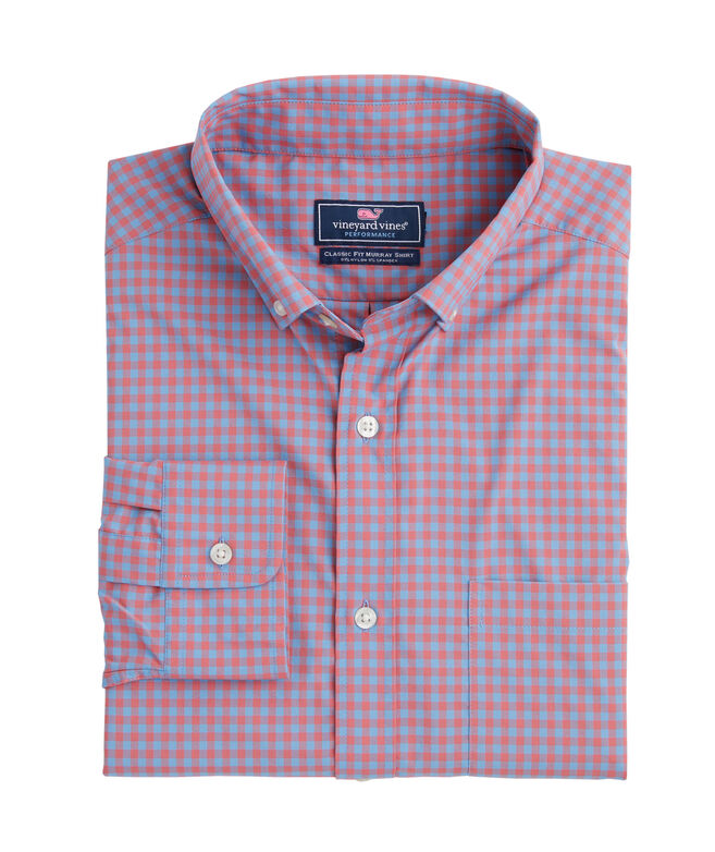Color-To-Color Gingham Performance Classic Murray Shirt