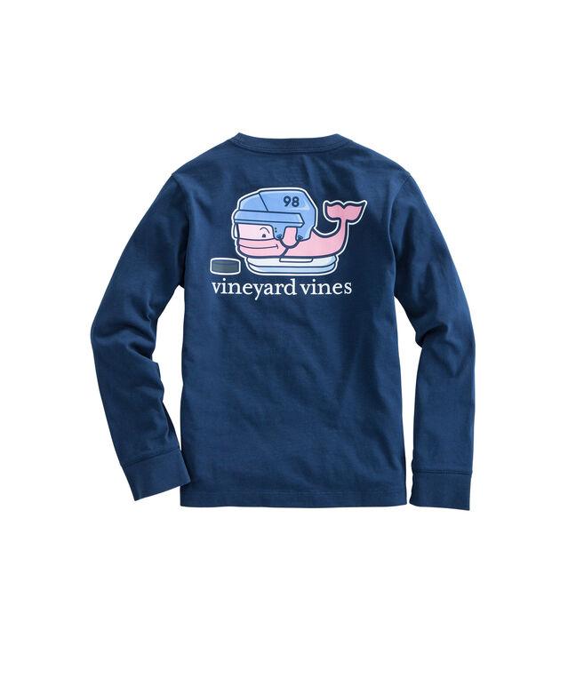 Boys Long-Sleeve Hockey Whale Pocket T-Shirt