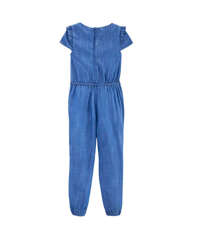 Girls Chambray Jumpsuit