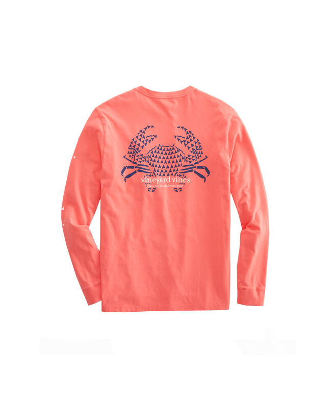 Crab Stamp Long Sleeve Pocket T Shirt by Vineyard Vines
