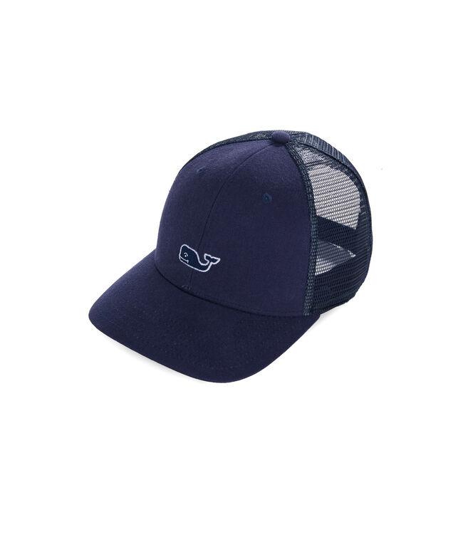 1a6b894fe72bd Shop Boys High Profile Whale Trucker Hat at vineyard vines