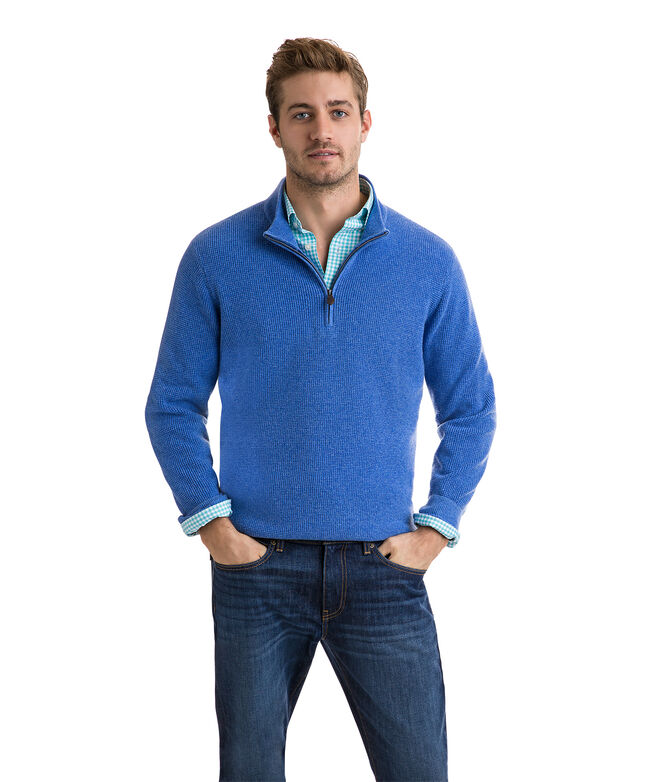 Cashmere Mock 1/4-Zip Sweater