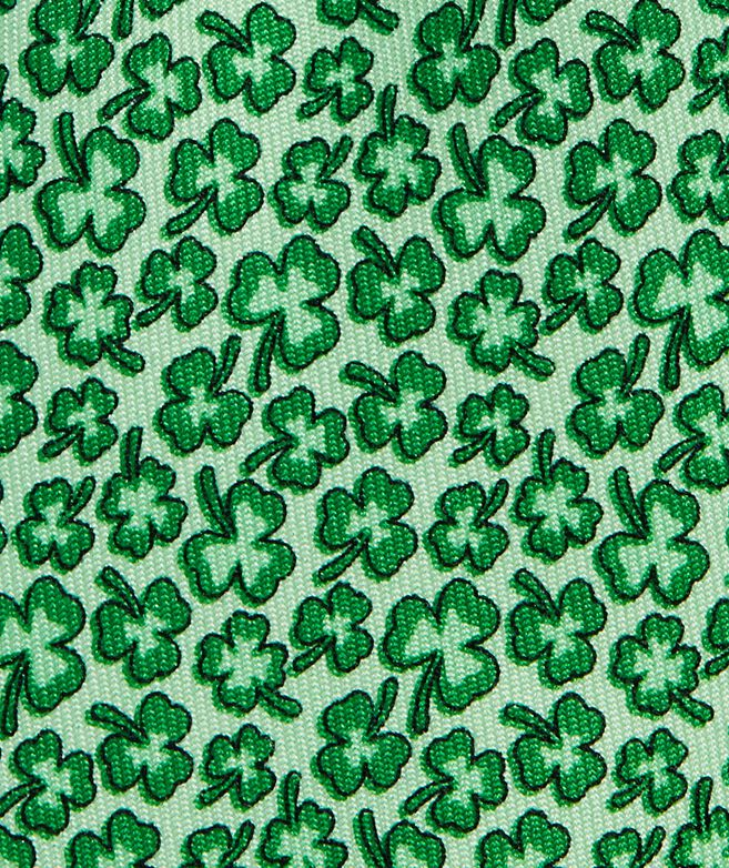 Boys' Scattered Clovers Printed Tie
