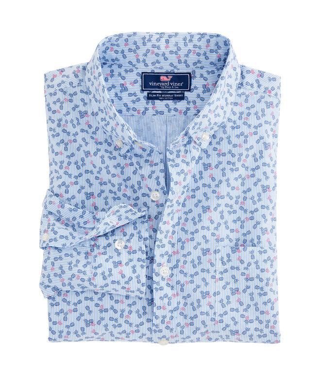 Pineapple Stripe Slim Murray Shirt