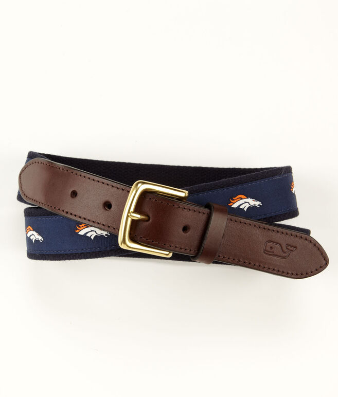 Denver Broncos Canvas Club Belt