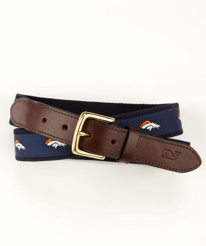 Denver Broncos Canvas Club Belt