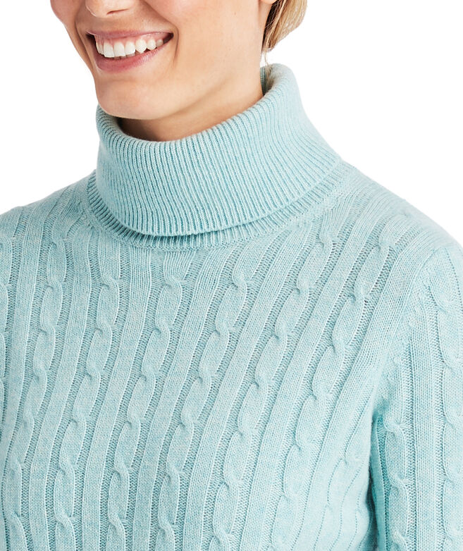 Heathered Cashmere Coral Lane Turtleneck