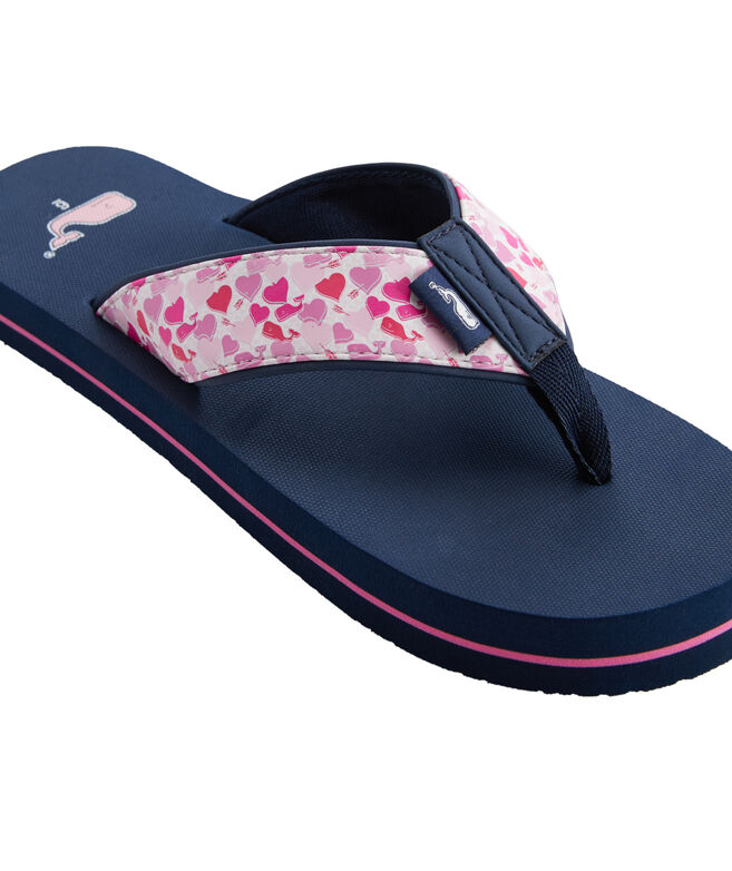 Valentines Day Whale Classic Flip Flops