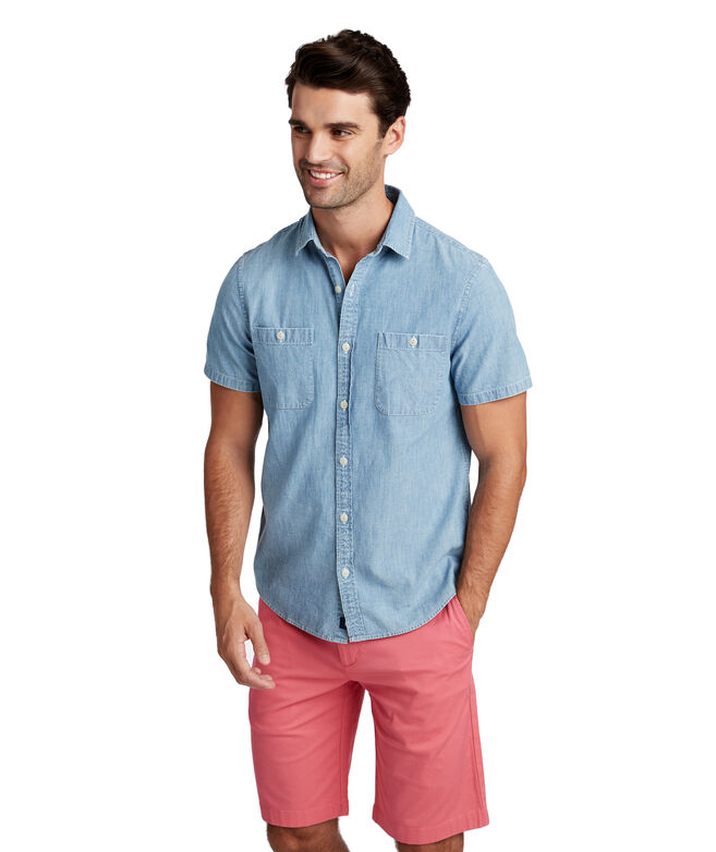 Slim Short-Sleeve Chambray Dockside Murray Shirt