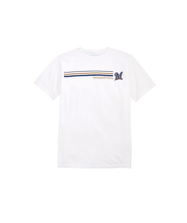 Milwaukee Brewers 3 Stripe T-Shirt