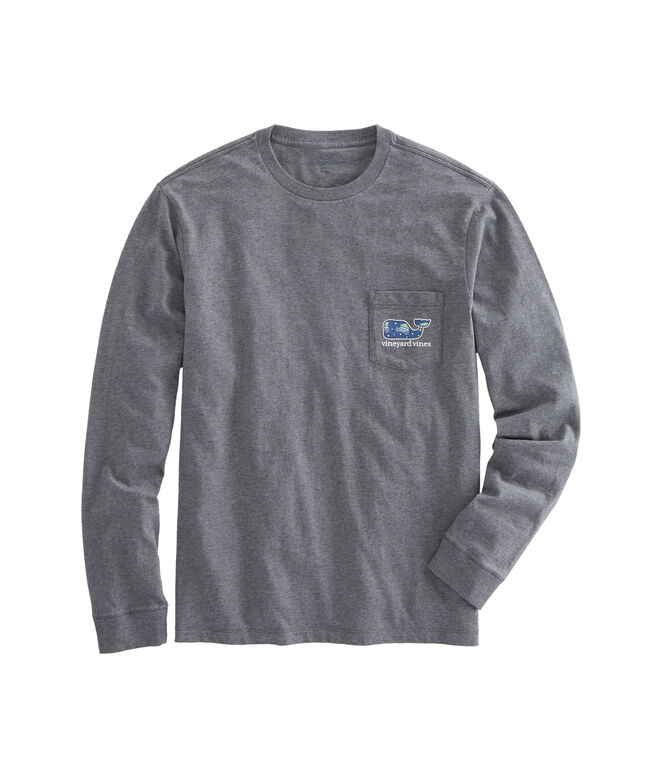 Long-Sleeve Woody & Tree Whale Pocket T-Shirt