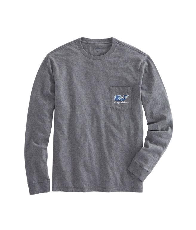 Long-Sleeve Woody & Tree Whale Pocket T-Shirt