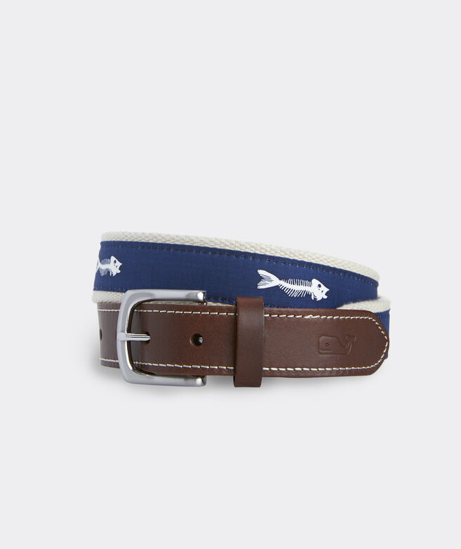 Bonefish Icon Canvas Club Belt