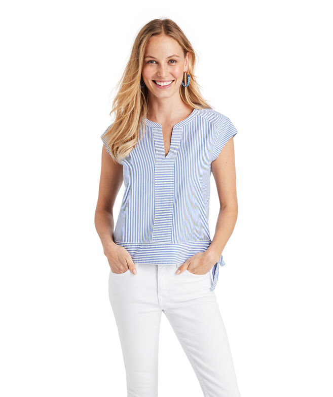 Skiff Stripe Side-Tie Top
