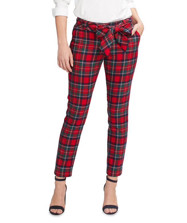 Merry Plaid Ponte Cocktail Pants