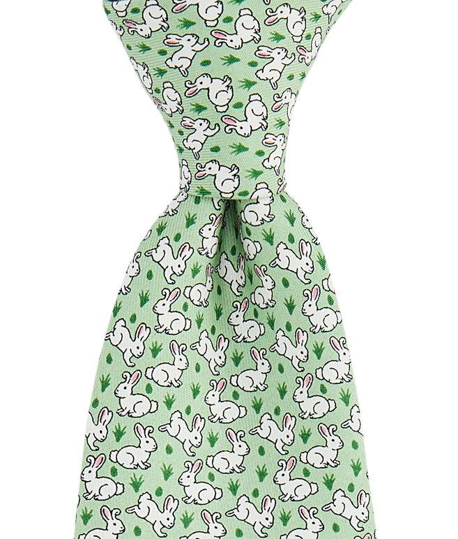Boys Easter Bunnies Printed Tie