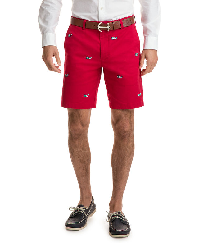 9 Inch Holiday Embroidered Breaker Shorts