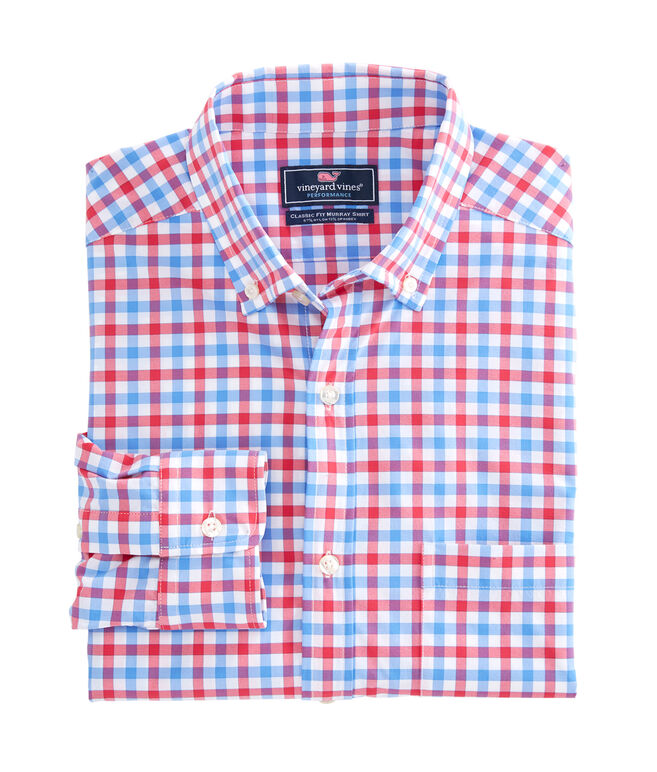Reef Shark Gingham Performance Classic Tucker Shirt