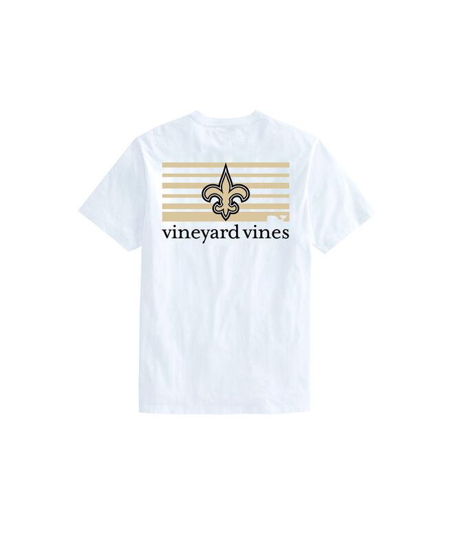 New Orleans Saints Block Stripe Tee