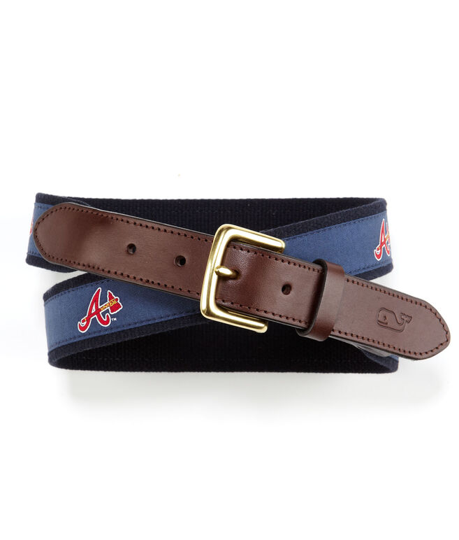 Atlanta Braves Canvas Club Belt
