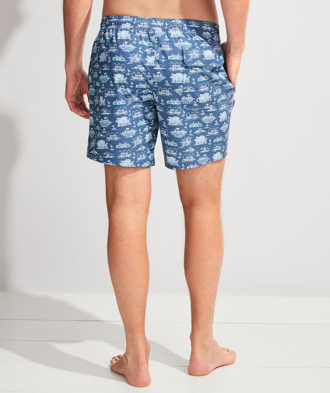 Printed Piped Chappy Trunks