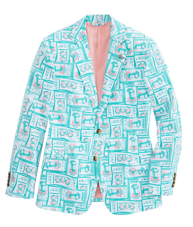 Printed Tickets Blazer