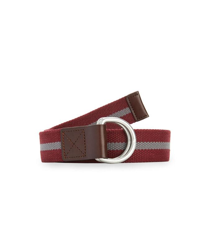 Stripe D-Ring Canvas Belt
