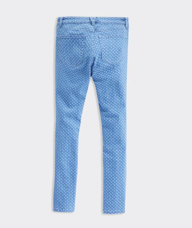 Jamie High-Rise Gustavia Block Print Jeans