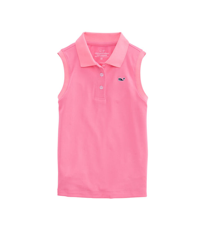 Girls Sleeveless Performance Club Polo