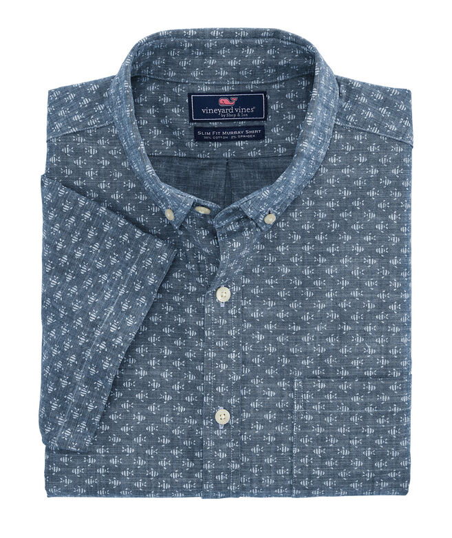Classic Fit Finn Murray Short-Sleeve Button-Down Shirt