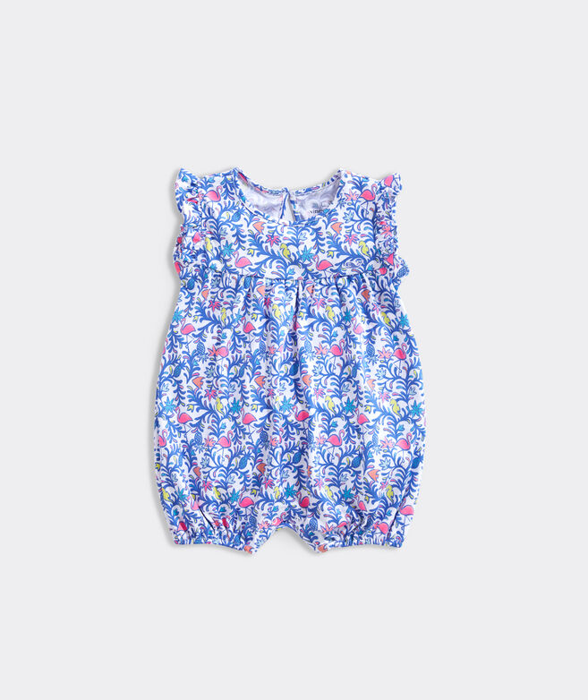 Baby Floral Flamingos Knit Bubble