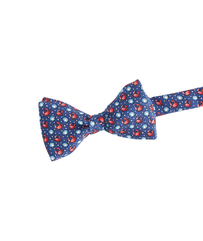 Crab & Scallop Shell Printed Bow Tie