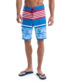 Fish Camo Stripe Laser Cut Board Shorts