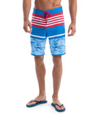 Fish Camo Stripe Laser Cut Board Shorts