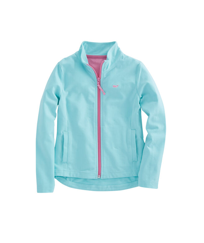 Girls Solid Full-Zip