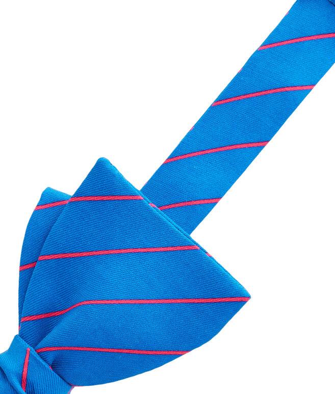 Fishing Line Stripe Bow Tie
