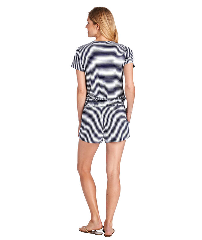 Vineyard Feeder Striped Romper