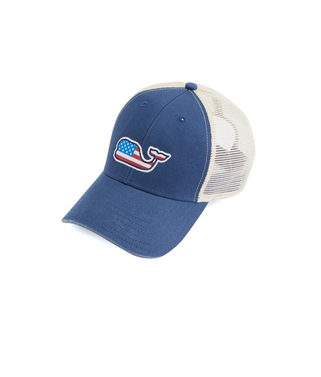 Flag Whale Patch Trucker Hat