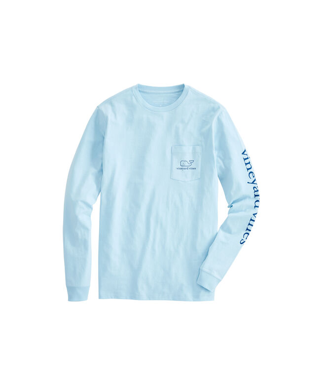 c068939fae Shop Long-Sleeve Vintage Whale Graphic Pocket T-Shirt at vineyard vines