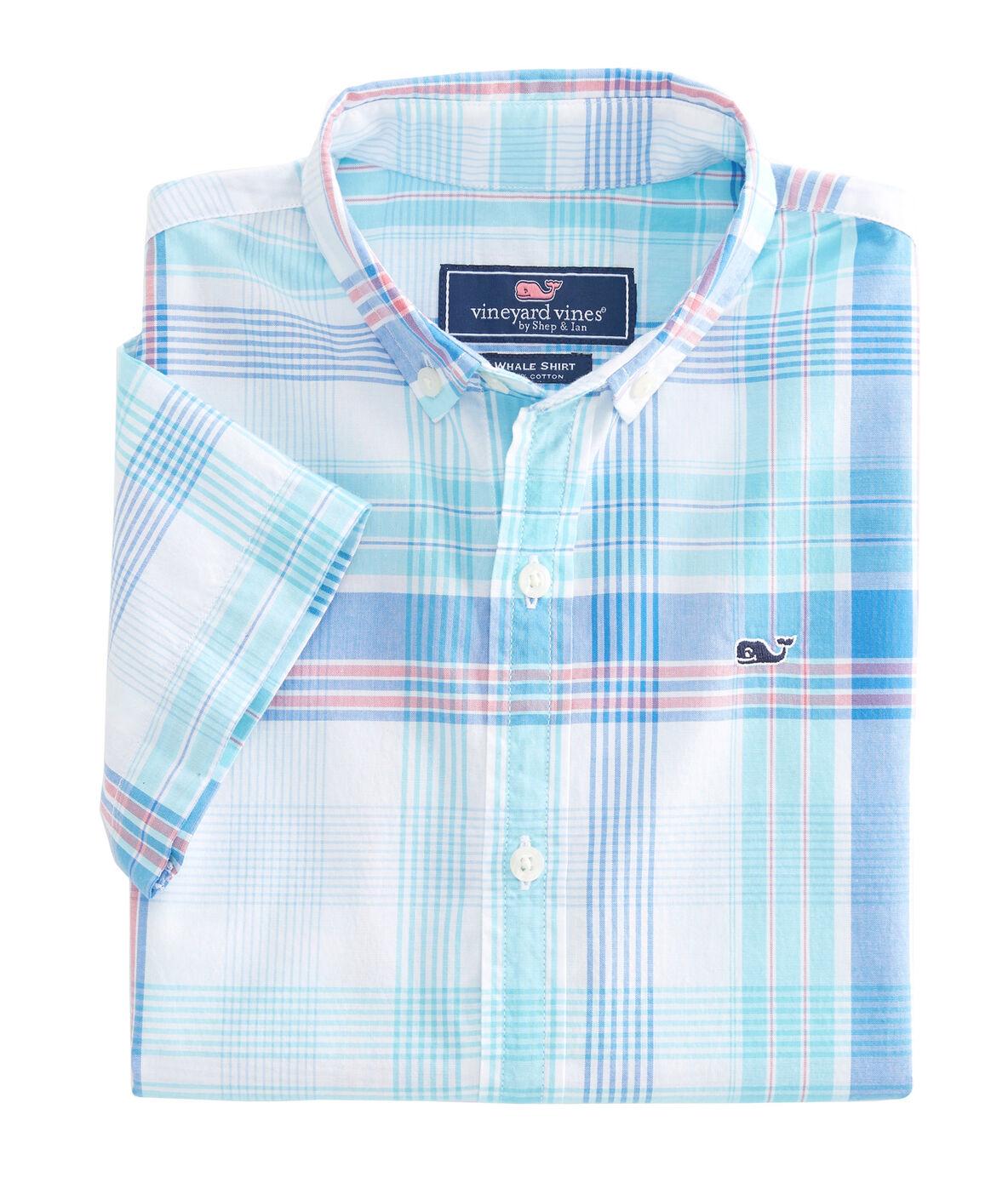 Shop Boys Short Sleeve Byram Shores Beach Tartan Whale Shirt At