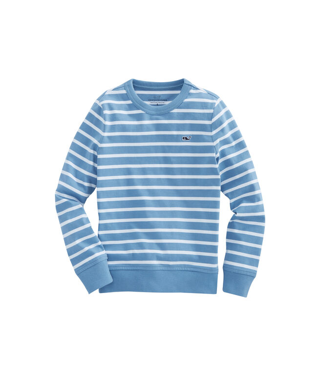 Boys Stripe French Terry Crewneck