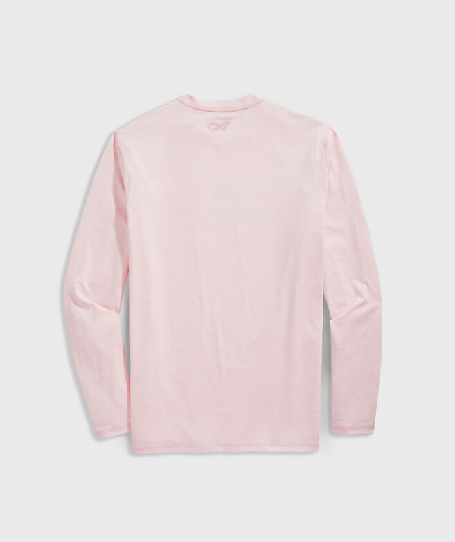 Men's Limited-Edition Breast Cancer Awareness Long-Sleeve Harbor Performance Tee