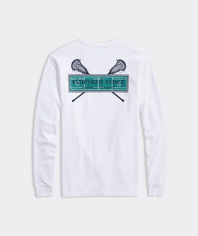 LAX Field Logo Box Long-Sleeve Pocket Tee