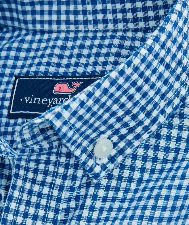 OUTLET Boys' Arawak Gingham Poplin Whale Shirt