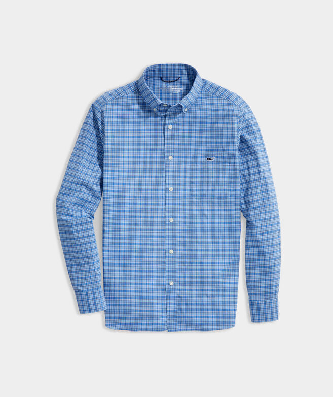 Big & Tall Check On-The-Go Shirt in Performance Nylon