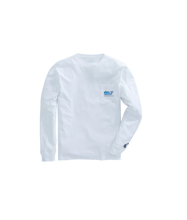Kids Long-Sleeve Shark Week Whale Line Whale Fill T-Shirt