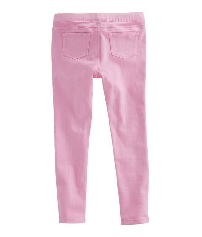Girls Colored Denim Leggings