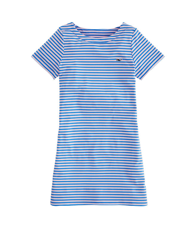 Girls' Short-Sleeve Stripe Sankaty Dress