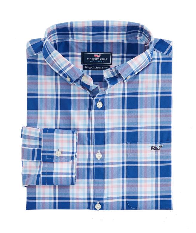 Classic Fit Belmond Plaid Performance Tucker Shirt