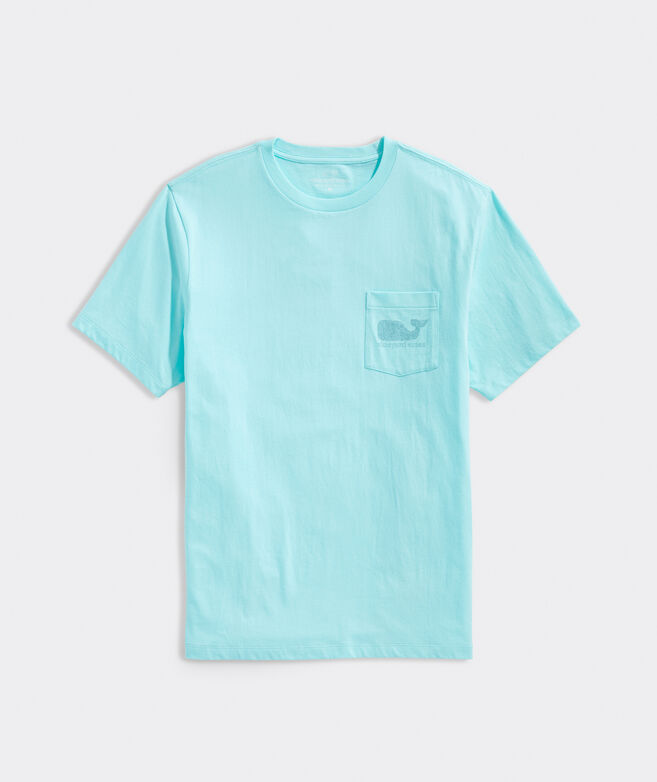 Above The Vineyard Whale Fill Short-Sleeve Pocket Tee
